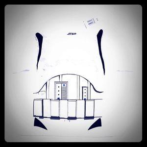 NWT Boys Star Wars Storm Trooper T-Shirt XXS - 4/5